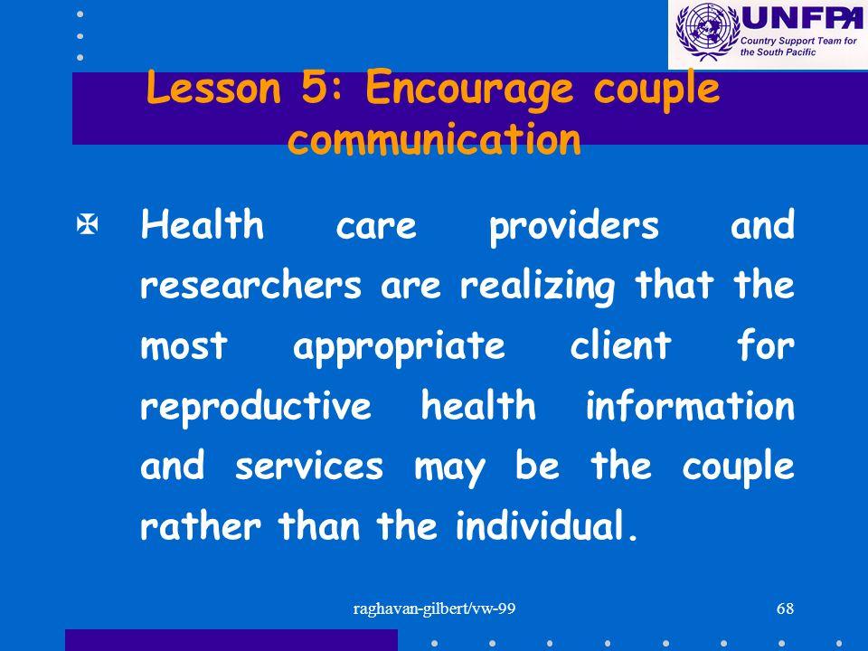 Lesson 5: Encourage couple communication