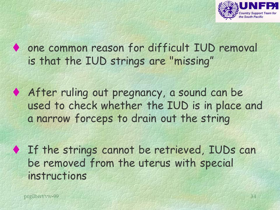 one common reason for difficult IUD removal is that the IUD strings are missing