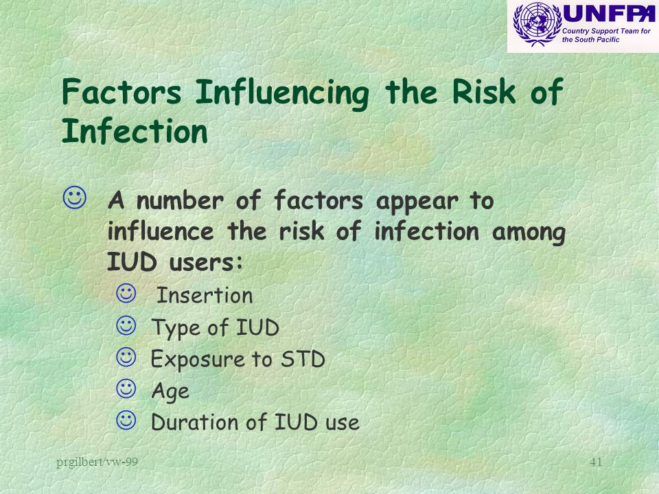 Factors Influencing the Risk of Infection