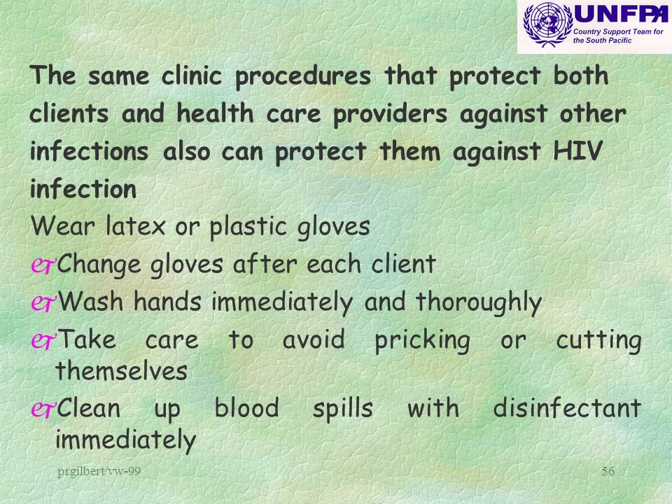 The same clinic procedures that protect both