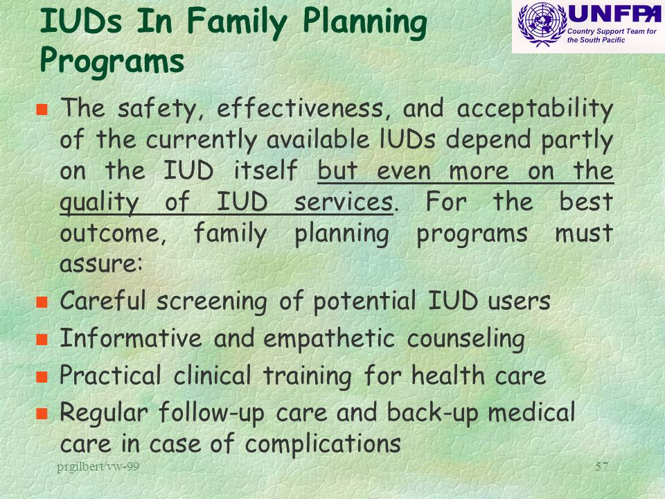IUDs In Family Planning Programs
