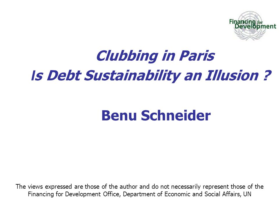 Is Debt Sustainability an Illusion