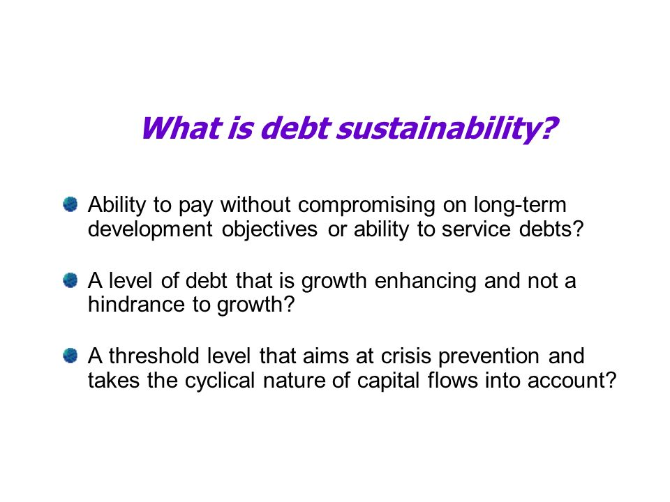 What is debt sustainability