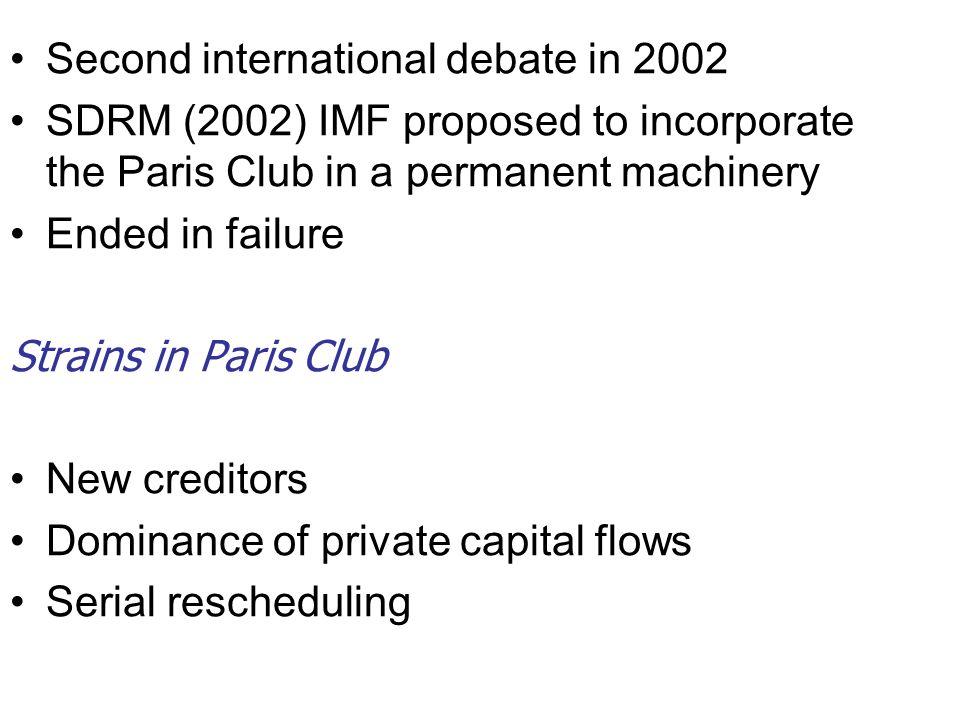 Second international debate in 2002