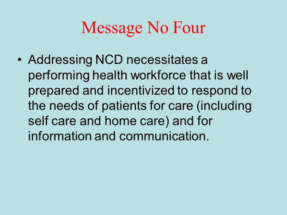 Message No Four