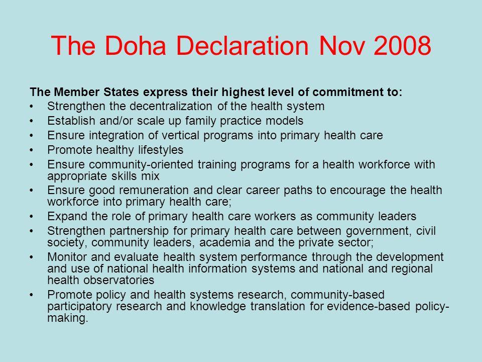 The Doha Declaration Nov 2008