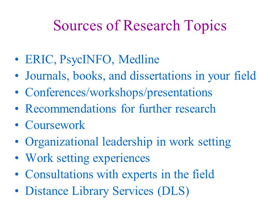 Leadership Dissertation Topics