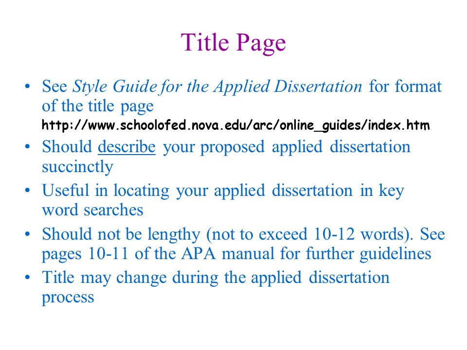 Applied dissertation vs traditional dissertation