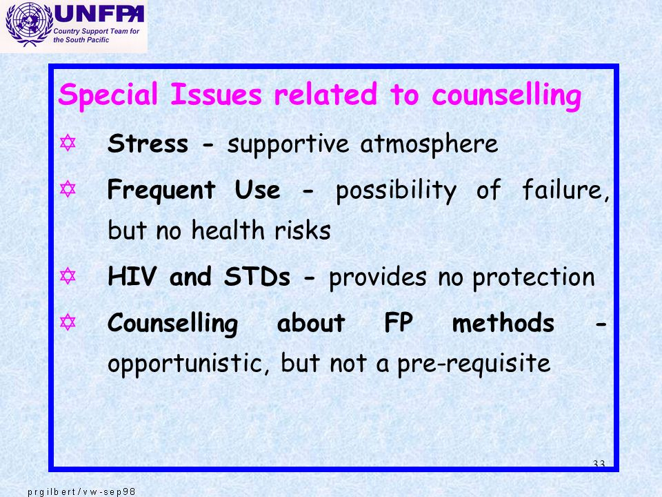 Special Issues related to counselling