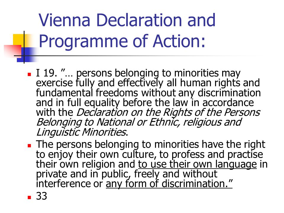Vienna Declaration and Programme of Action:
