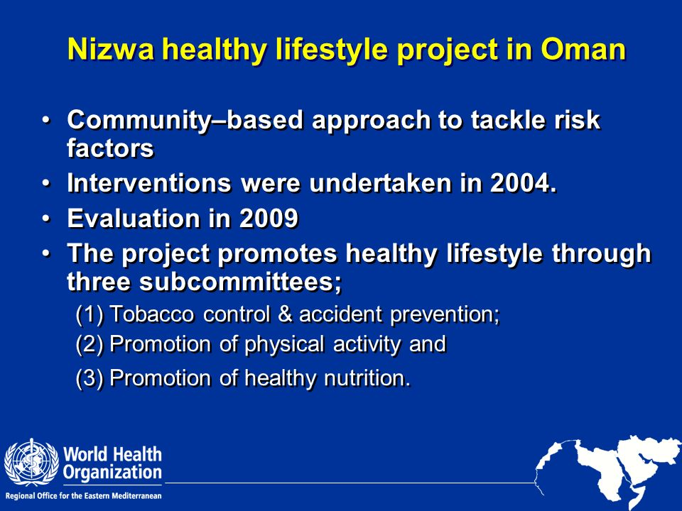 Nizwa healthy lifestyle project in Oman