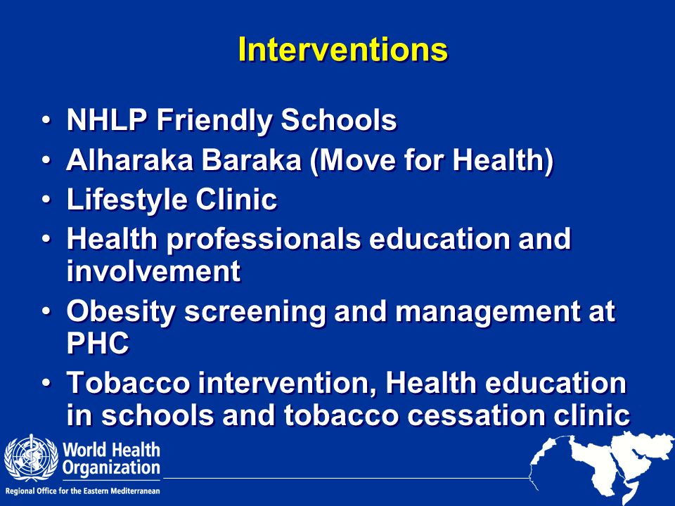 Interventions NHLP Friendly Schools Alharaka Baraka (Move for Health)