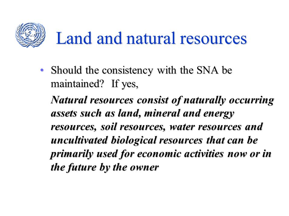 Land and natural resources