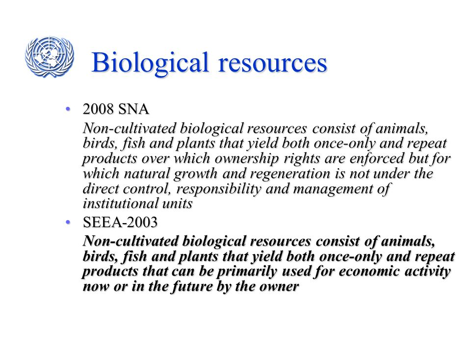 Biological resources 2008 SNA