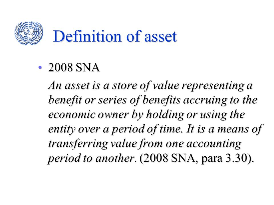 Definition of asset 2008 SNA
