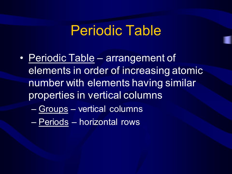 Periodic trends the periodic table ppt download periodic table urtaz Gallery