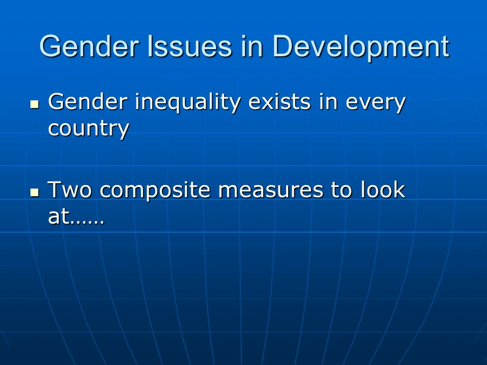 gender inequality exists to some extent Keywords: gender discrimination, gender inequality, gender rights introduction gender inequality, or in other words, gender discrimination refers to unfair rights between male and female based on different gender roles which leads to unequal treatment in life.