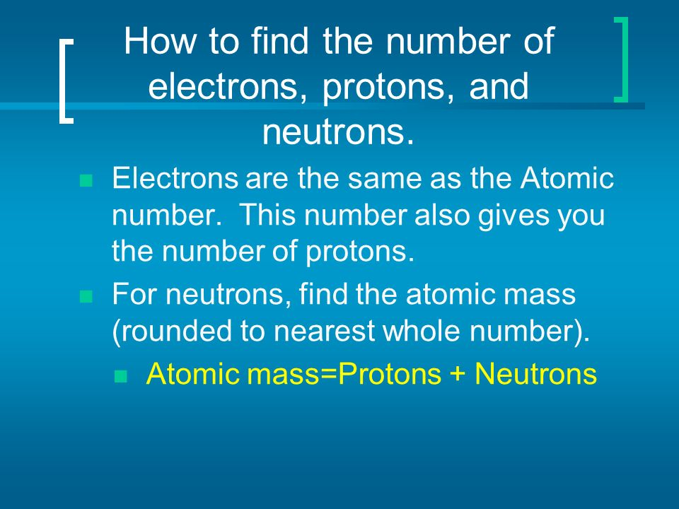 Determining Protons Neutrons and Electrons of Atoms and Ions