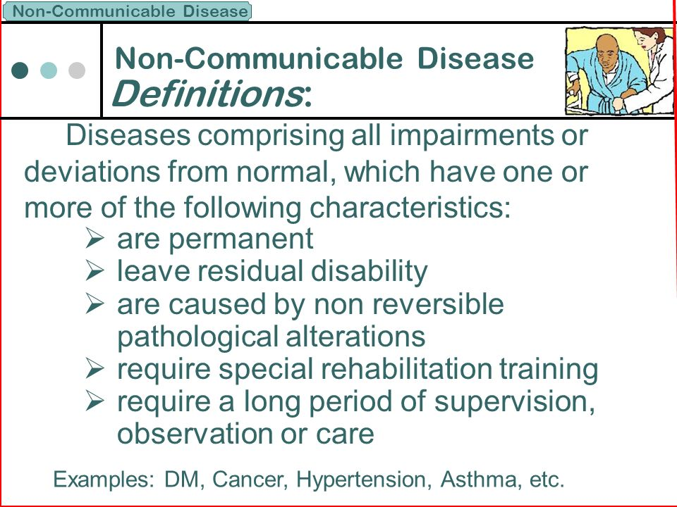 Non-Communicable Disease - ppt download