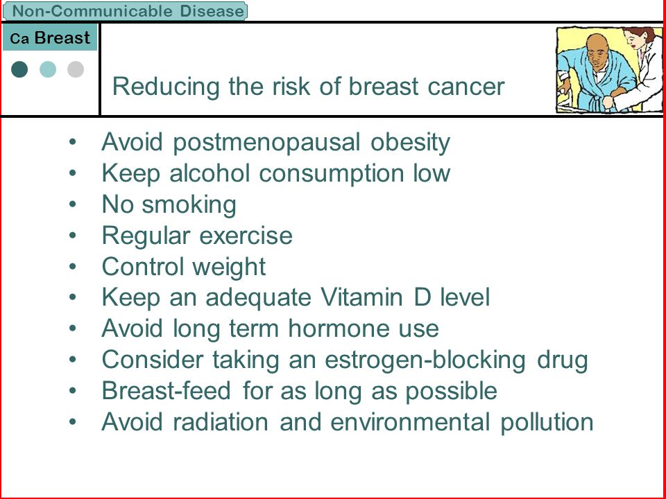 CDC - What Can I Do to Reduce My Risk of Breast Cancer?
