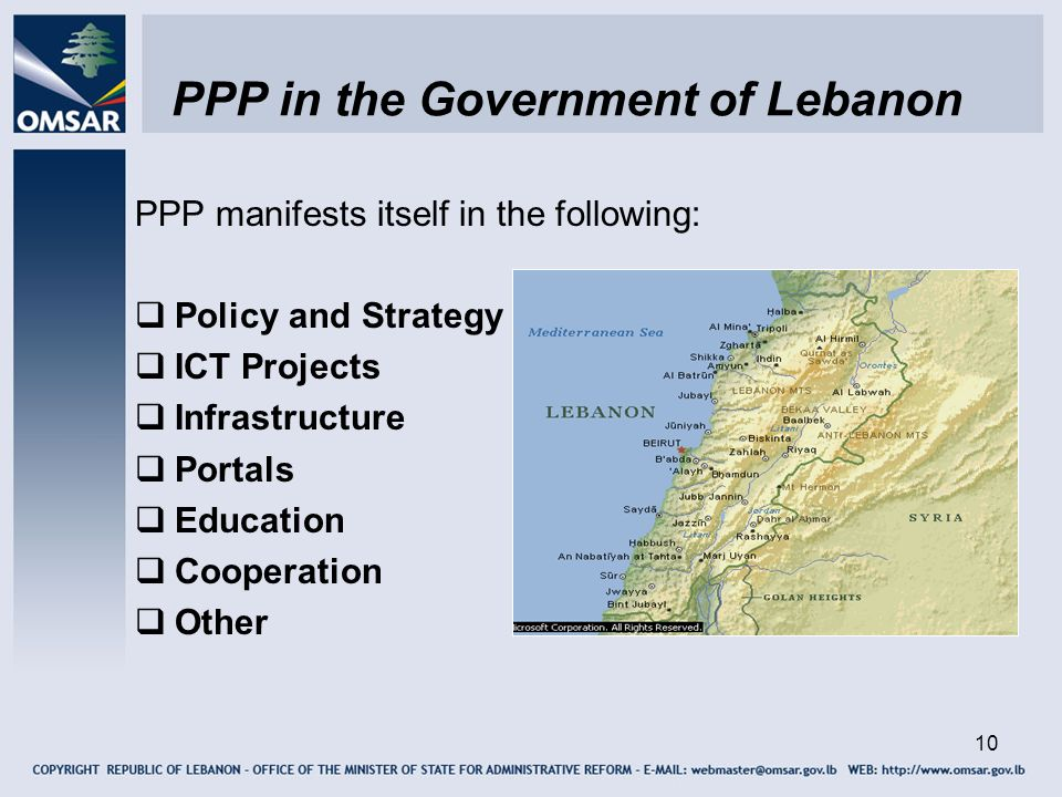 PPP in the Government of Lebanon