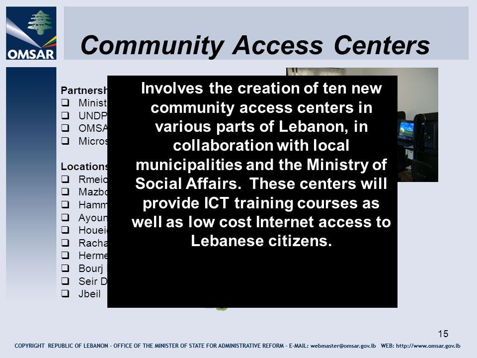 Community Access Centers