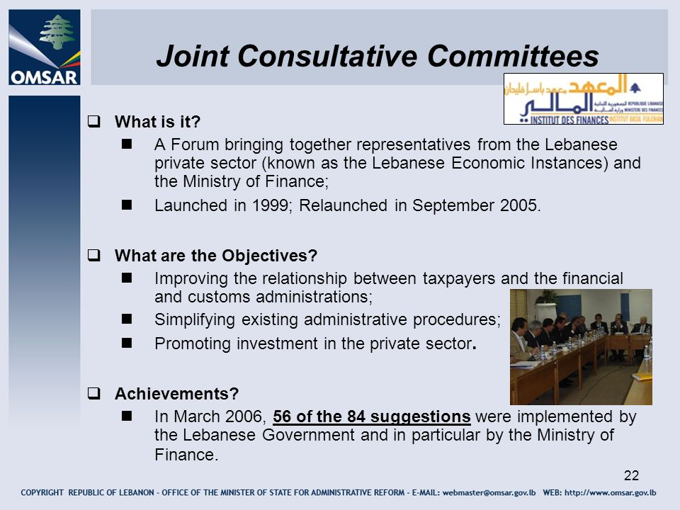Joint Consultative Committees