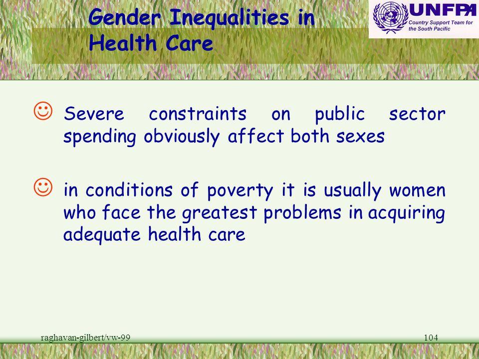 Gender Inequalities in Health Care