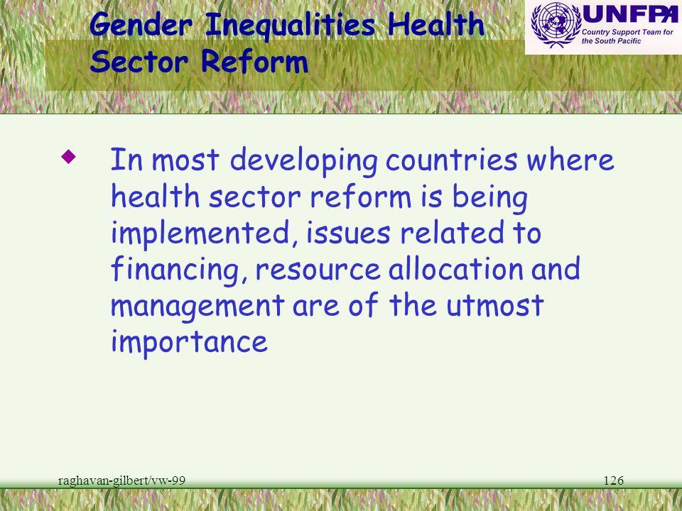 Gender Inequalities Health Sector Reform