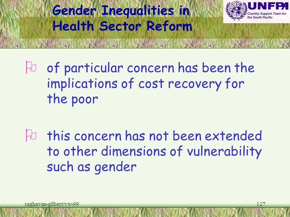 Gender Inequalities in Health Sector Reform