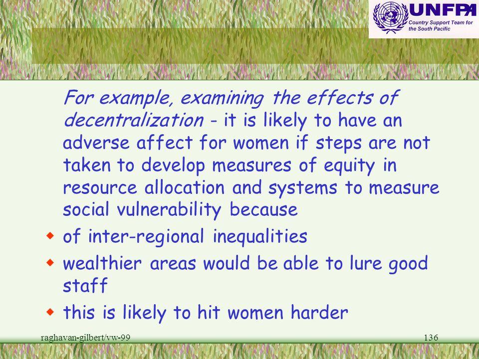 of inter-regional inequalities