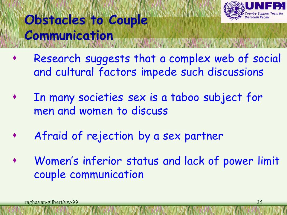 Obstacles to Couple Communication
