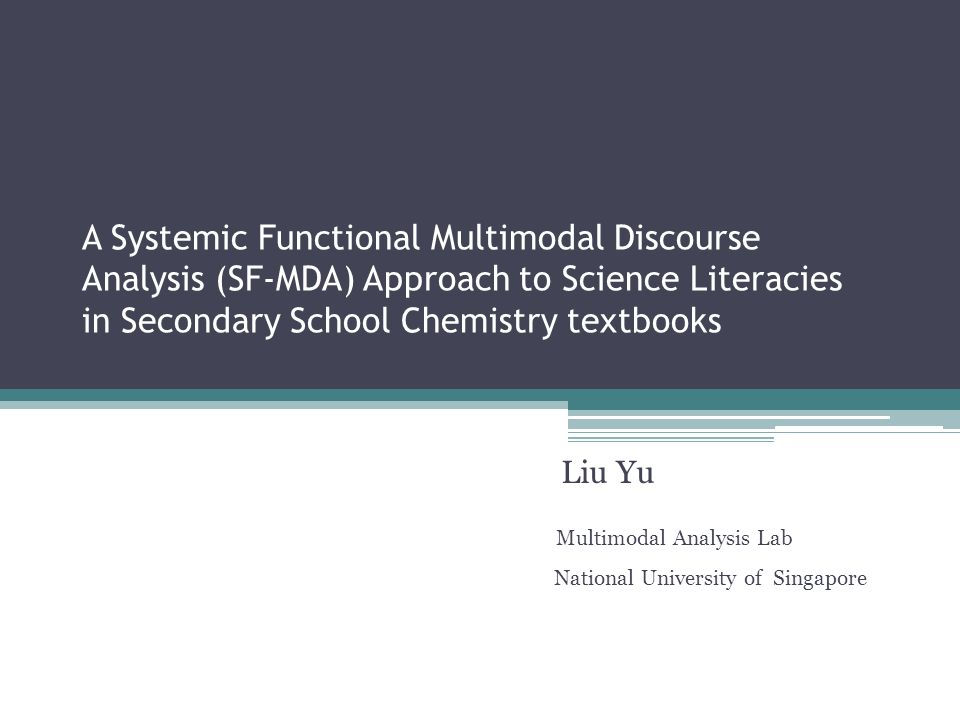 Liu Yu Multimodal Analysis Lab National University of Singapore