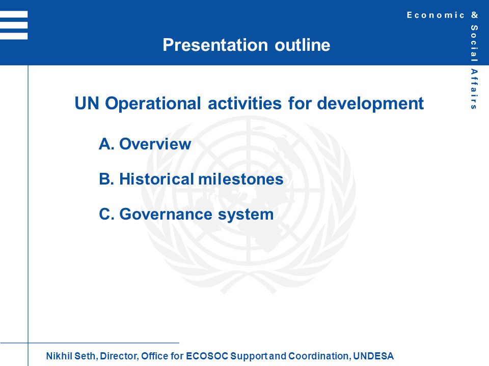 UN Operational activities for development
