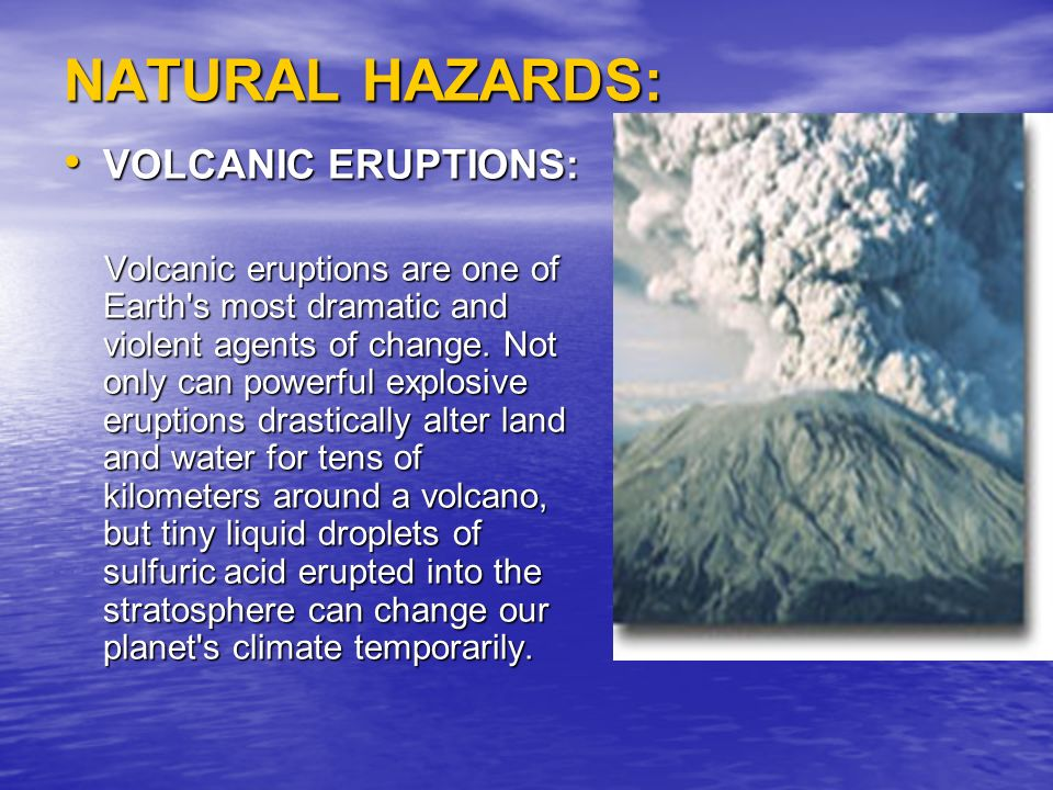 an introduction to the volcano and the volcanic eruptions Volcanic eruptions happen when lava and gas  the flow surges down the flanks of the volcano at speeds of up to  volcano world - current volcanic.