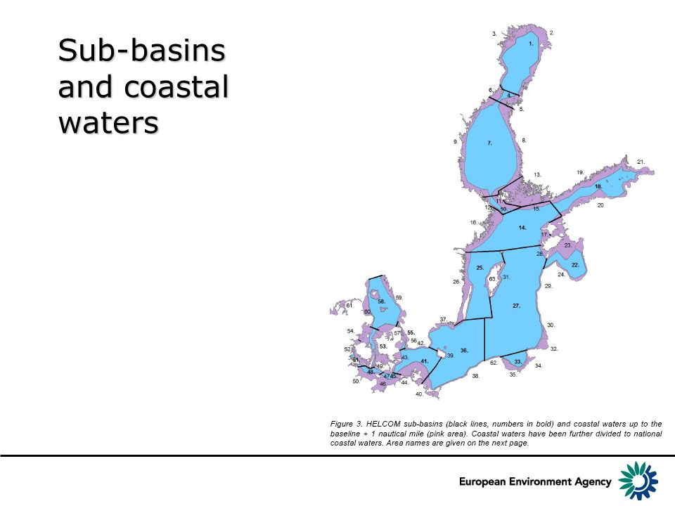 Sub-basins and coastal waters
