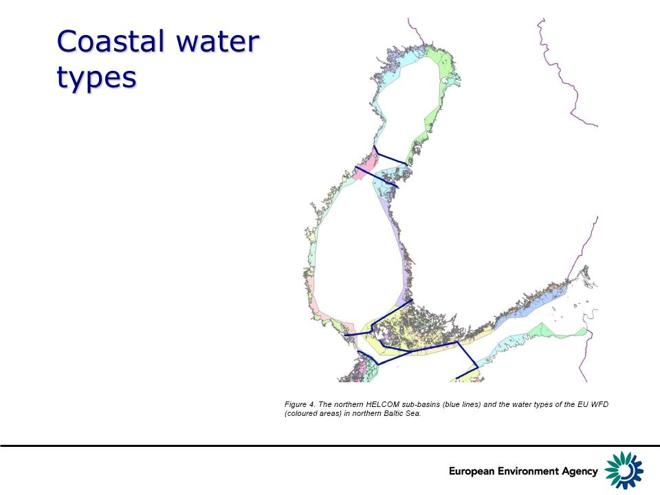 Coastal water types Source: HELCOM MONAS 14/2011, Document 4/1