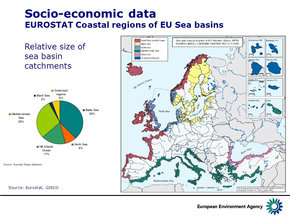 Socio-economic data EUROSTAT Coastal regions of EU Sea basins