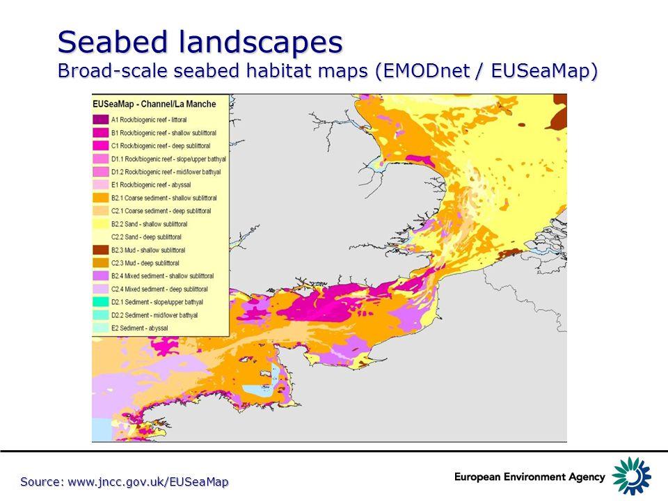 Seabed landscapes Broad-scale seabed habitat maps (EMODnet / EUSeaMap)