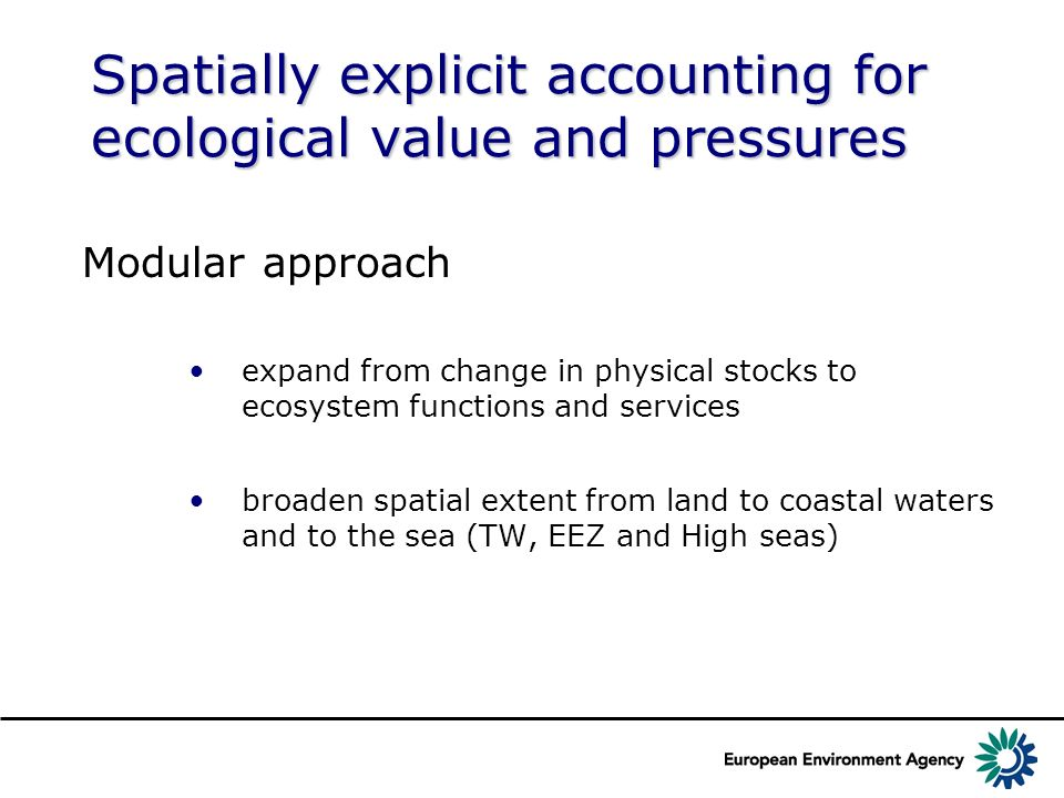 Spatially explicit accounting for ecological value and pressures