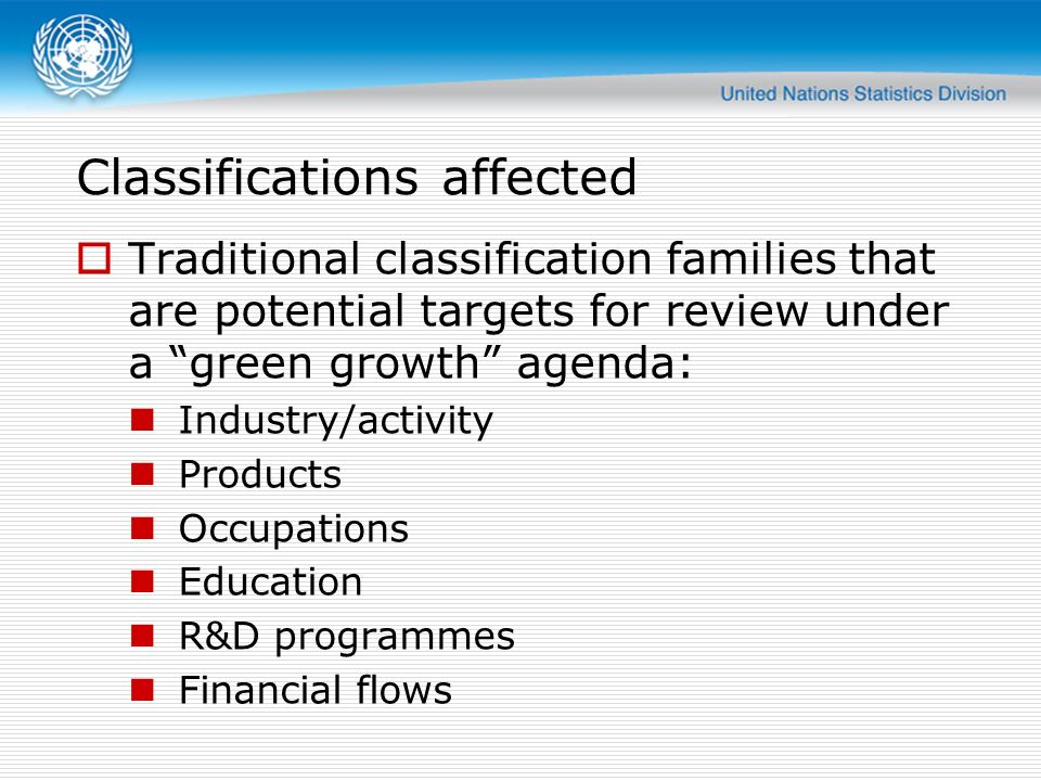Classifications affected