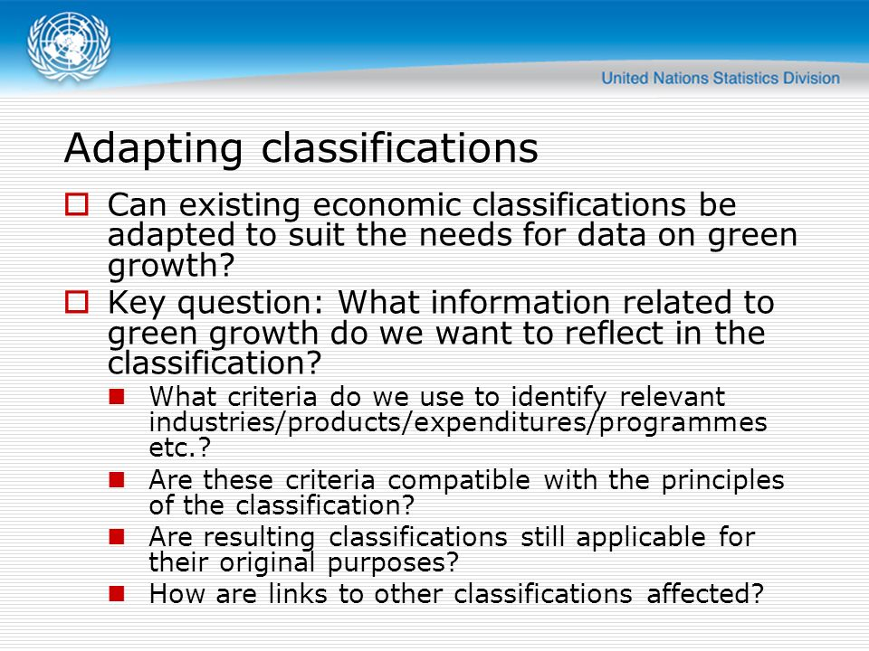 Adapting classifications