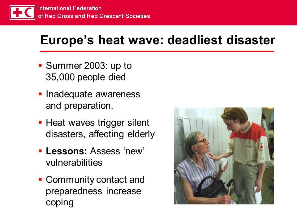 Europe's heat wave: deadliest disaster