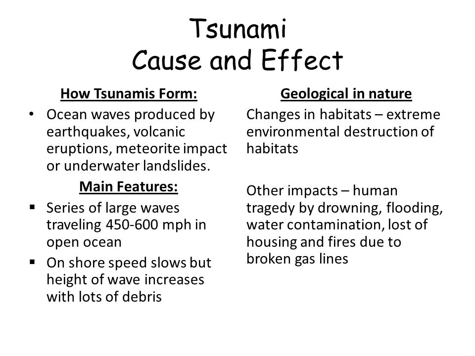 tsunami cause and effect essay When the cause and effect of tsunami essay 2011 earthquake and tsunami struck tohoku, japan, chris goldfinger was two hundred miles tsunami cause and effect essay what causes a tsunami 23-6-2017 in recent years, two new genetic reflection to a quote technologies have started a scientific tsunami cause and effect essay and.