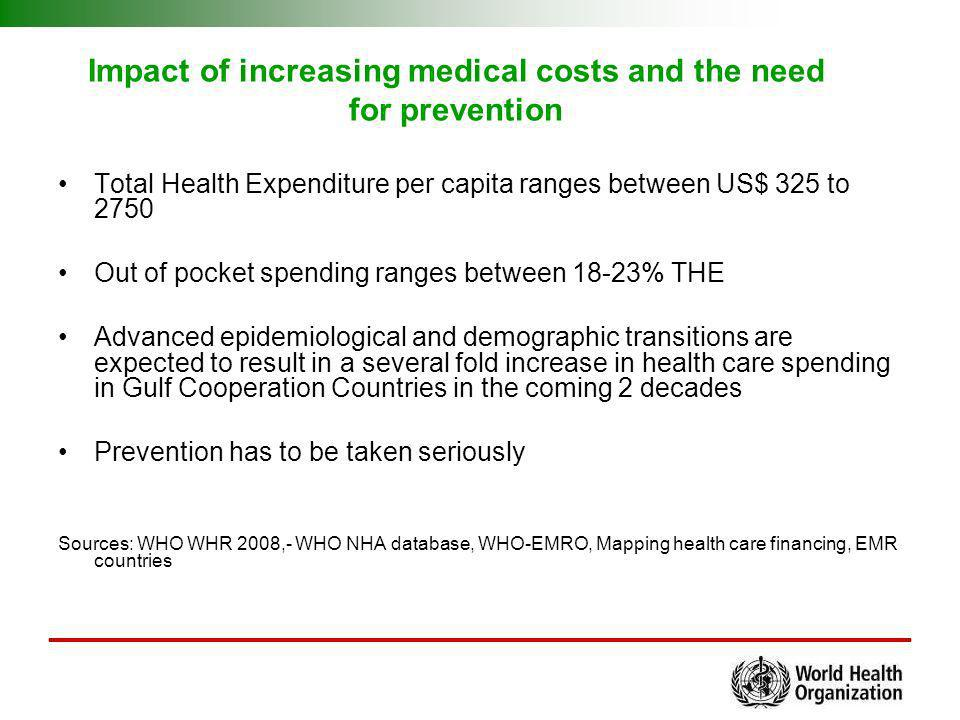 Impact of increasing medical costs and the need for prevention