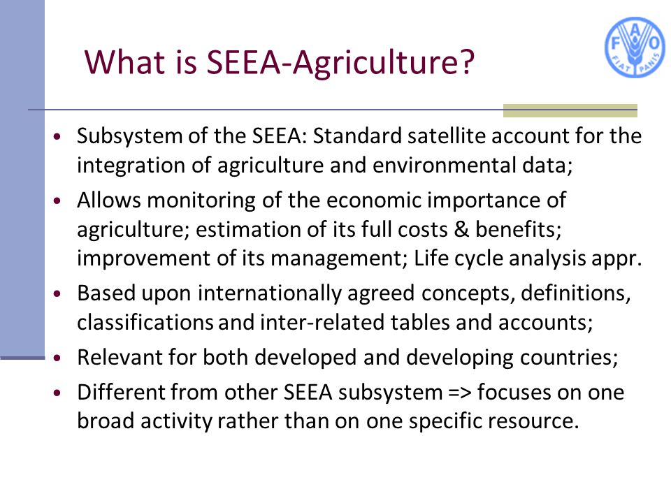 What is SEEA-Agriculture