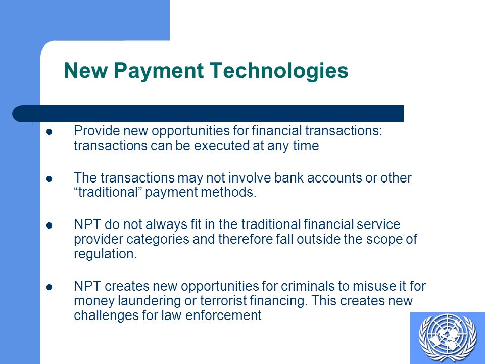 New Payment Technologies