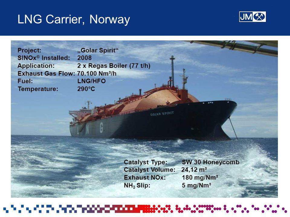 "LNG Carrier, Norway Project: ""Golar Spirit SINOx® Installed: 2008"