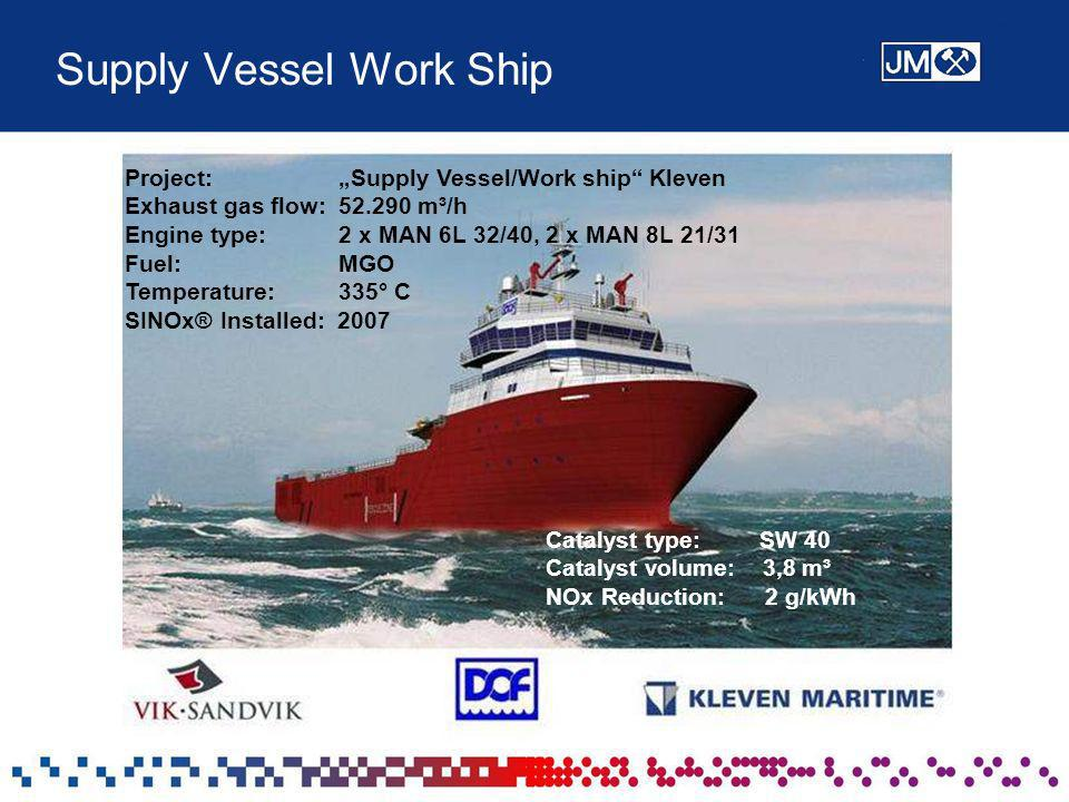 Supply Vessel Work Ship