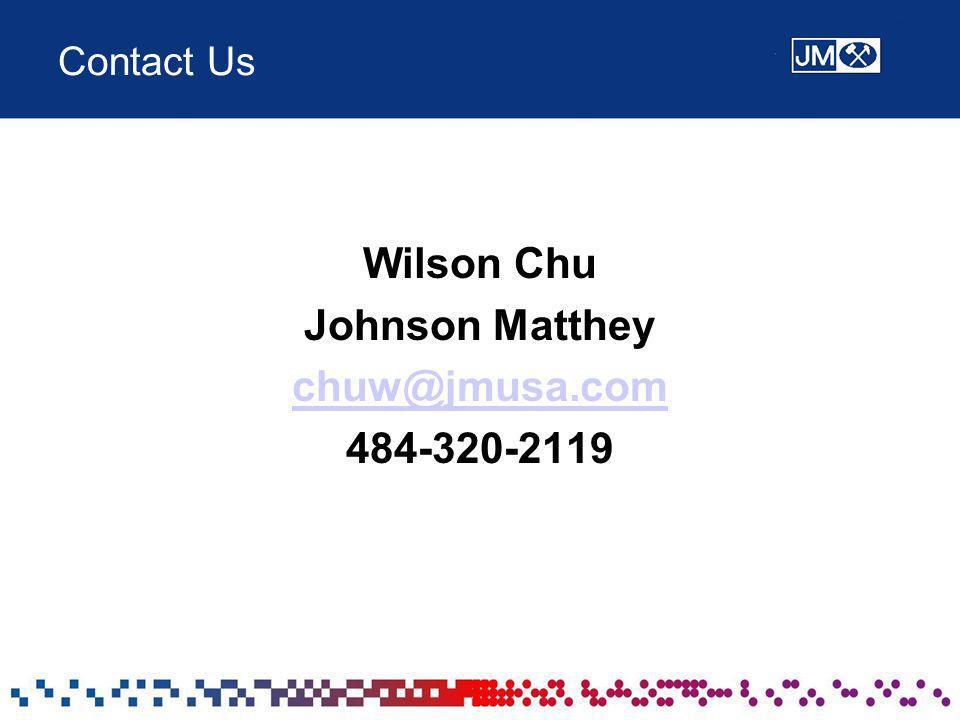 Wilson Chu Johnson Matthey chuw@jmusa.com 484-320-2119